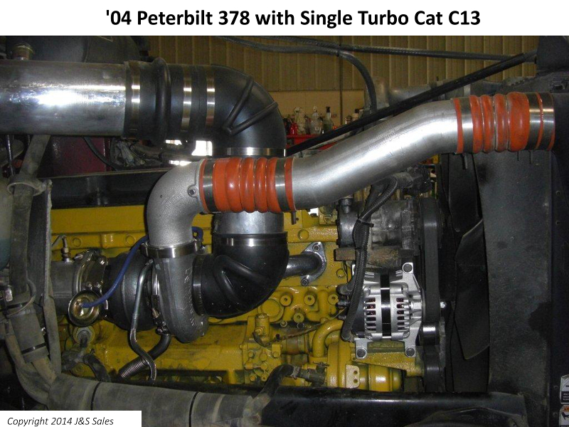 Peterbilt 378 Cat C13 Single Turbo Conversion