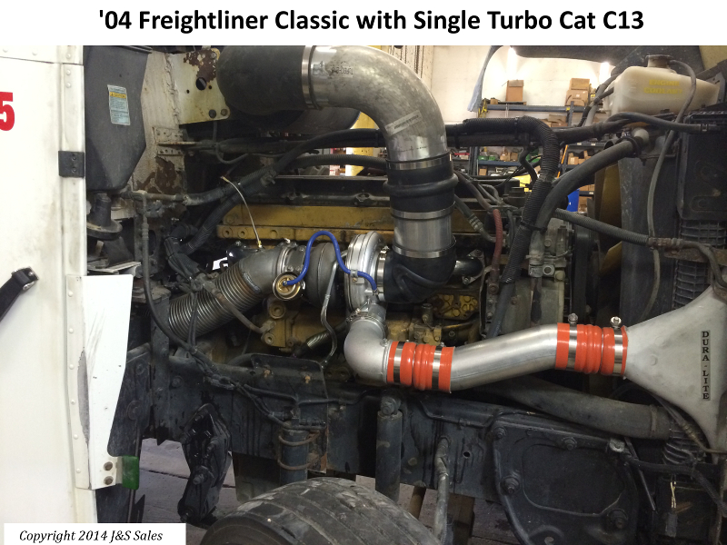 Freightliner Classic C13 Single Turbo Conversion Kit