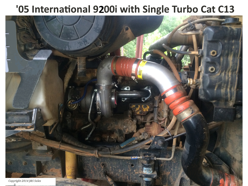 International 9200 C13 Single Turbo Conversion Kit