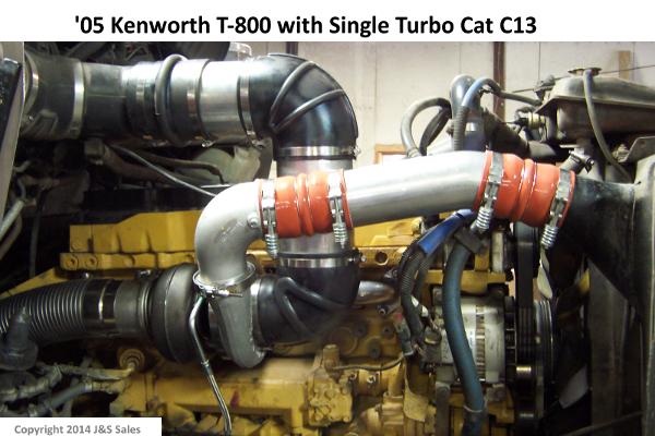 Kenworth T800 C13 Single Turbo Conversion Kit