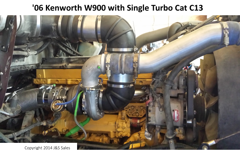 Kenworth W900 C13 Single Turbo Conversion Kit